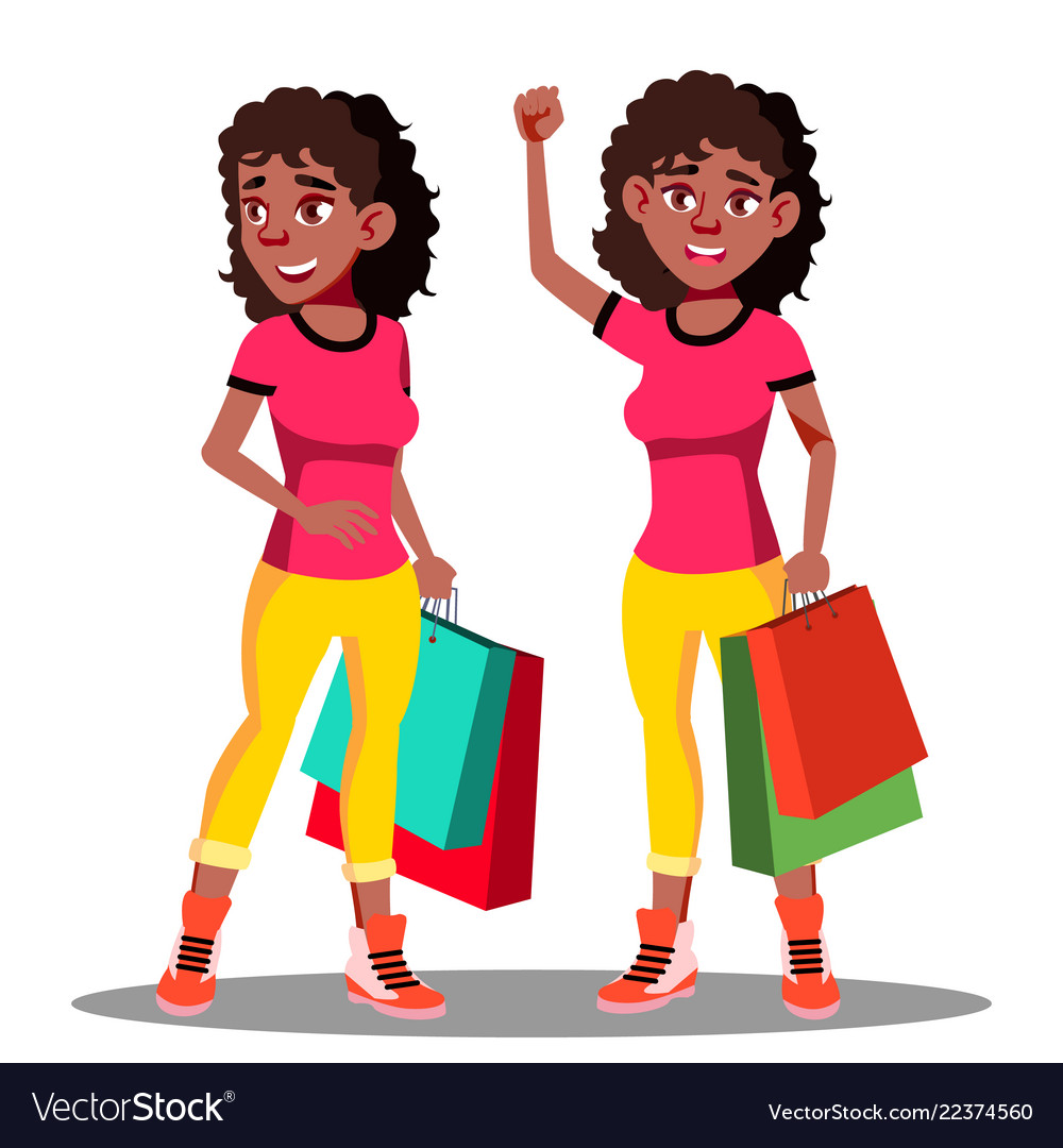 Happy woman with shopping bags after shopping