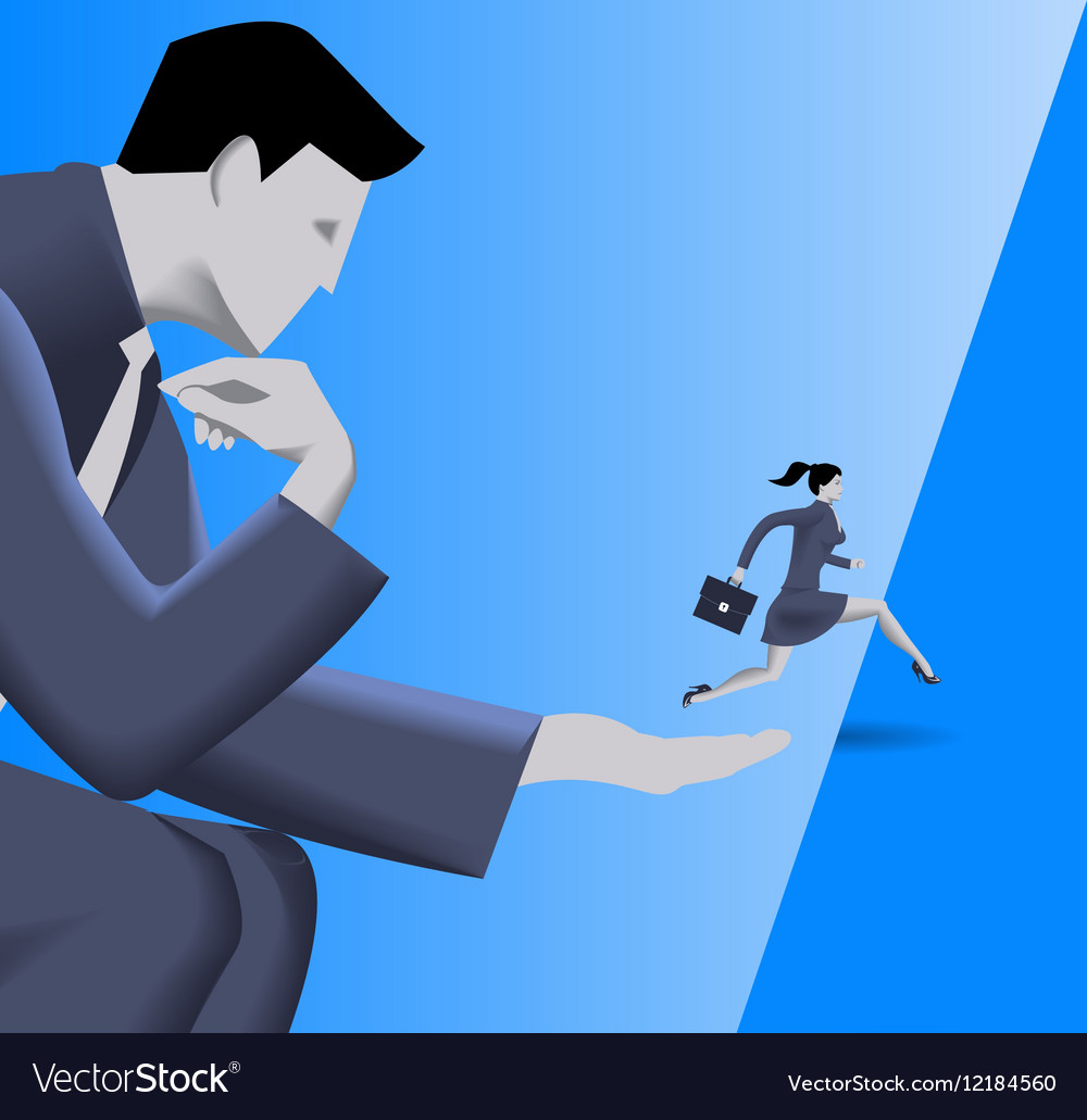 Helping hand business concept