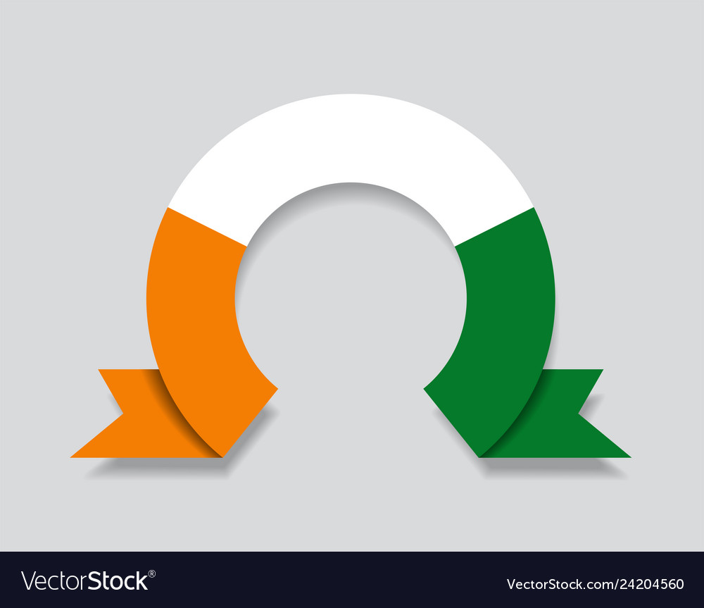 Ivorian flag rounded abstract background