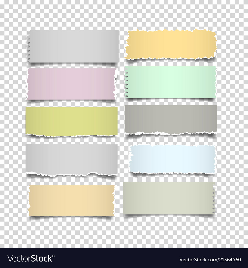 Set of notes paper in pastel colors on