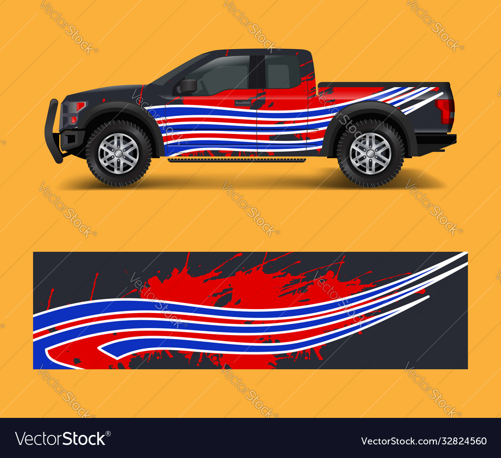 Wrap graphic design for off road truck abstract