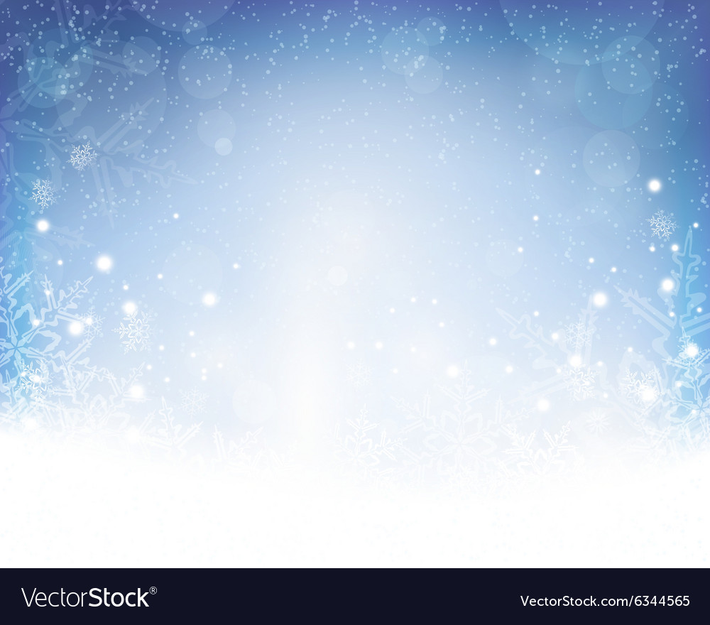 Abstract blue white winter Christmas
