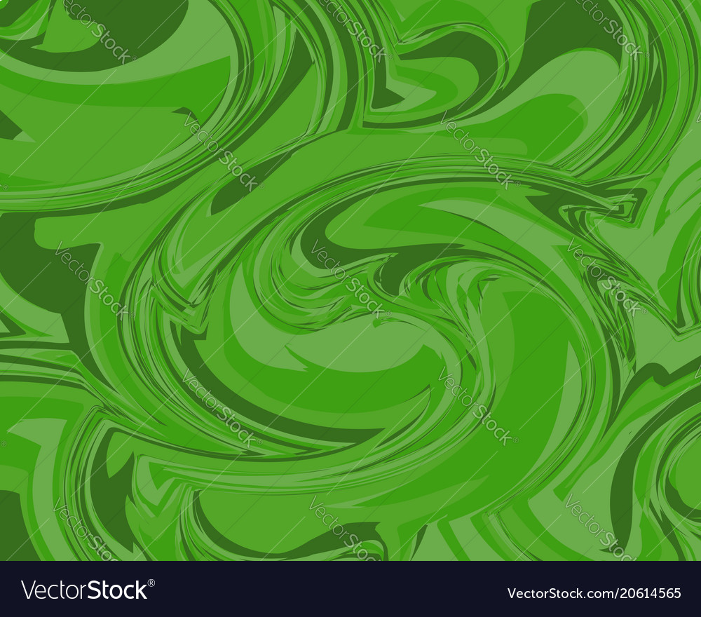 Abstract liquid marble texture background in green