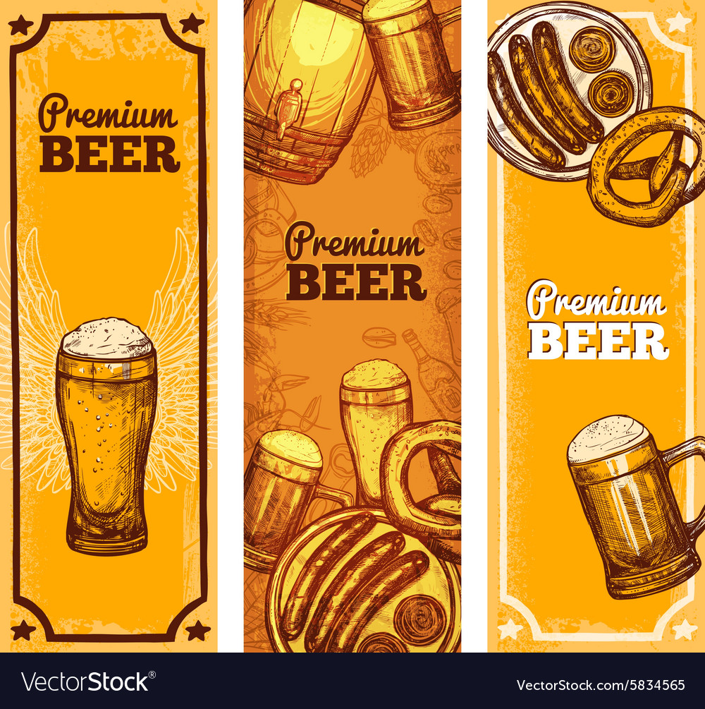 beer banner vertical royalty free vector image
