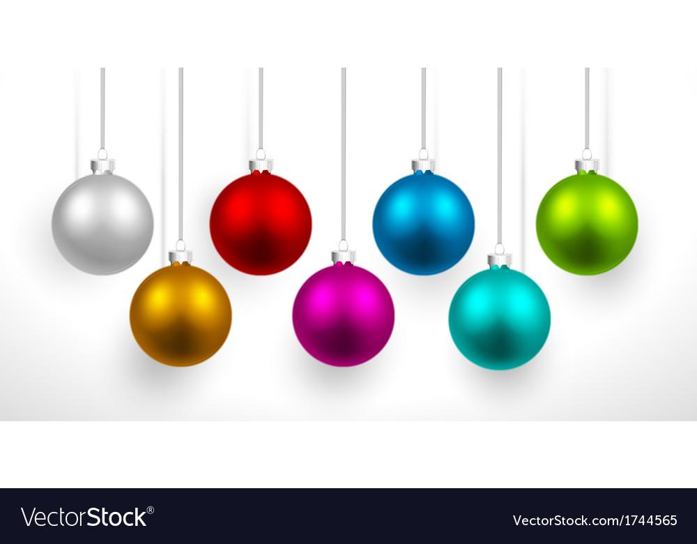 Christmas colored balls vector image