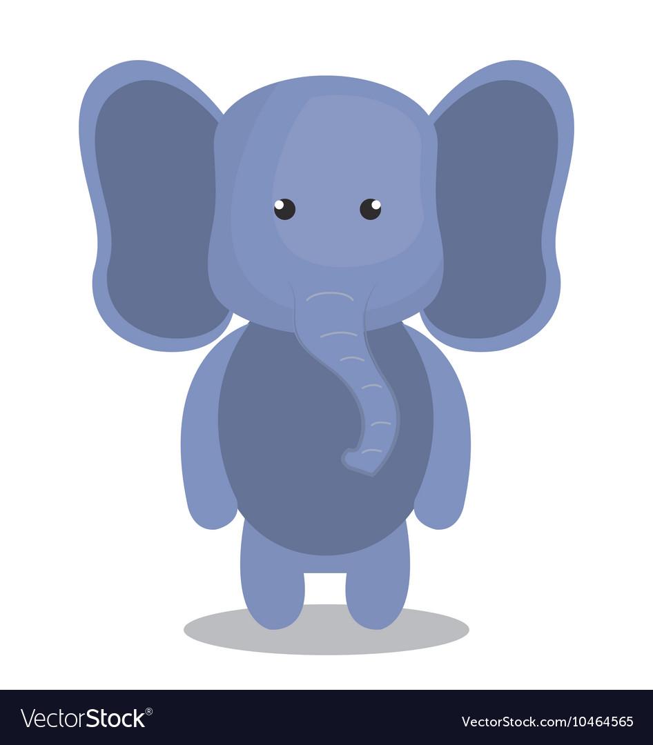 Cute elephant isolated icon design