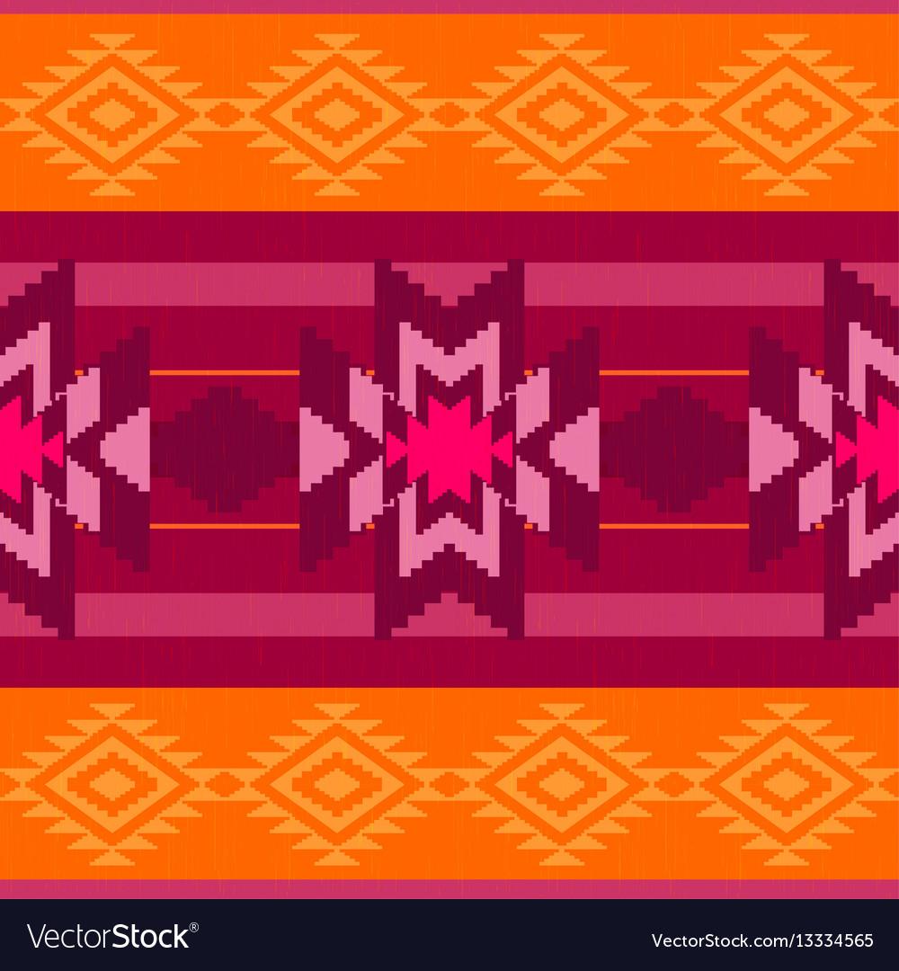 Folk ornamental textile pattern