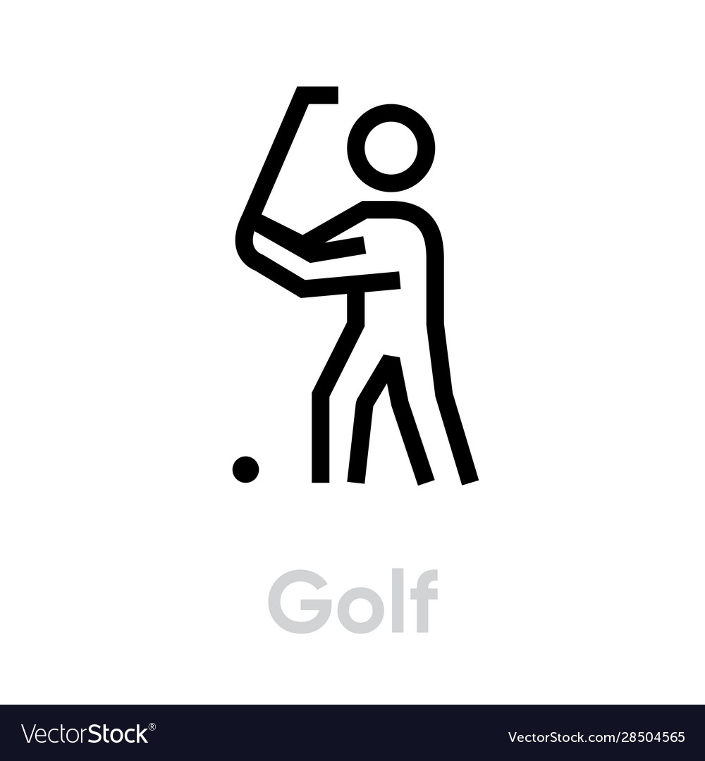 Golf player sport icons