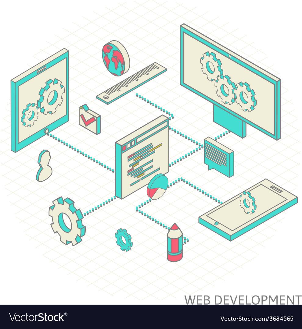 Isometric of website analytics