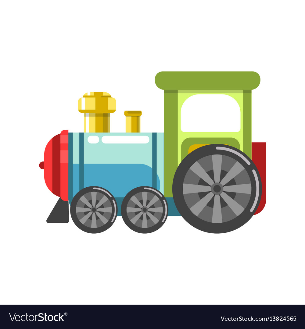 Small plastic steam train with colorful parts