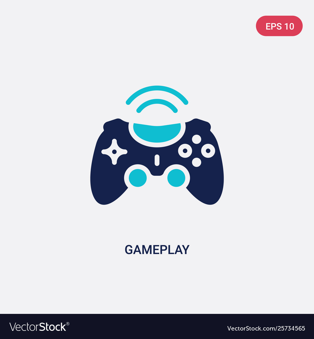 Two color gameplay icon from blogger and