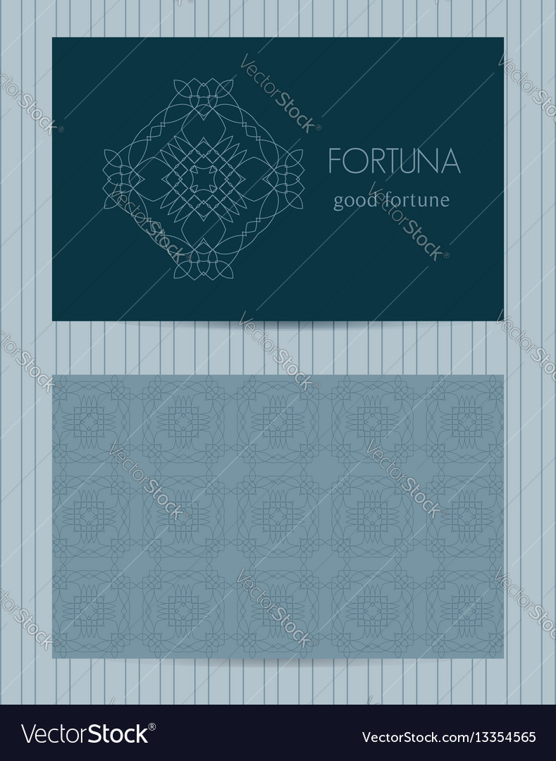 Two sided business card ornamental design