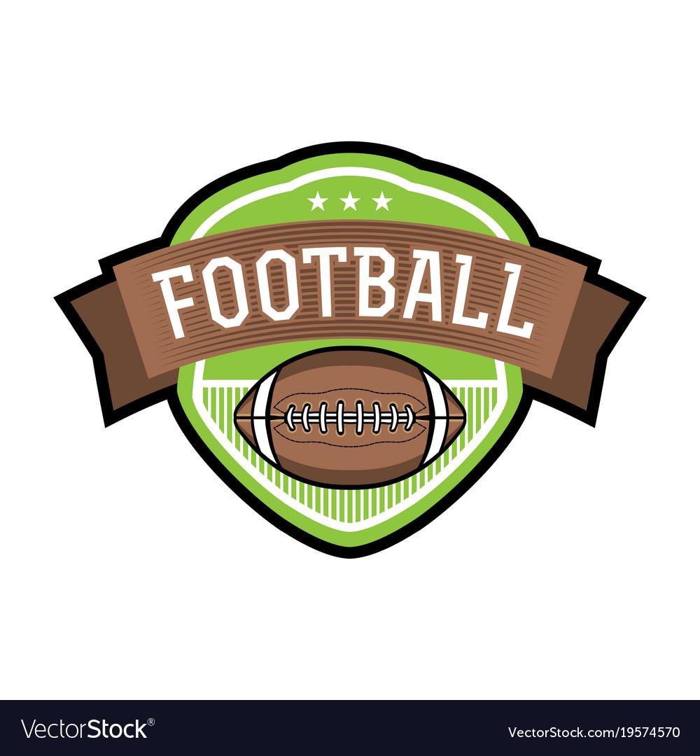 American football emblem badge vector image