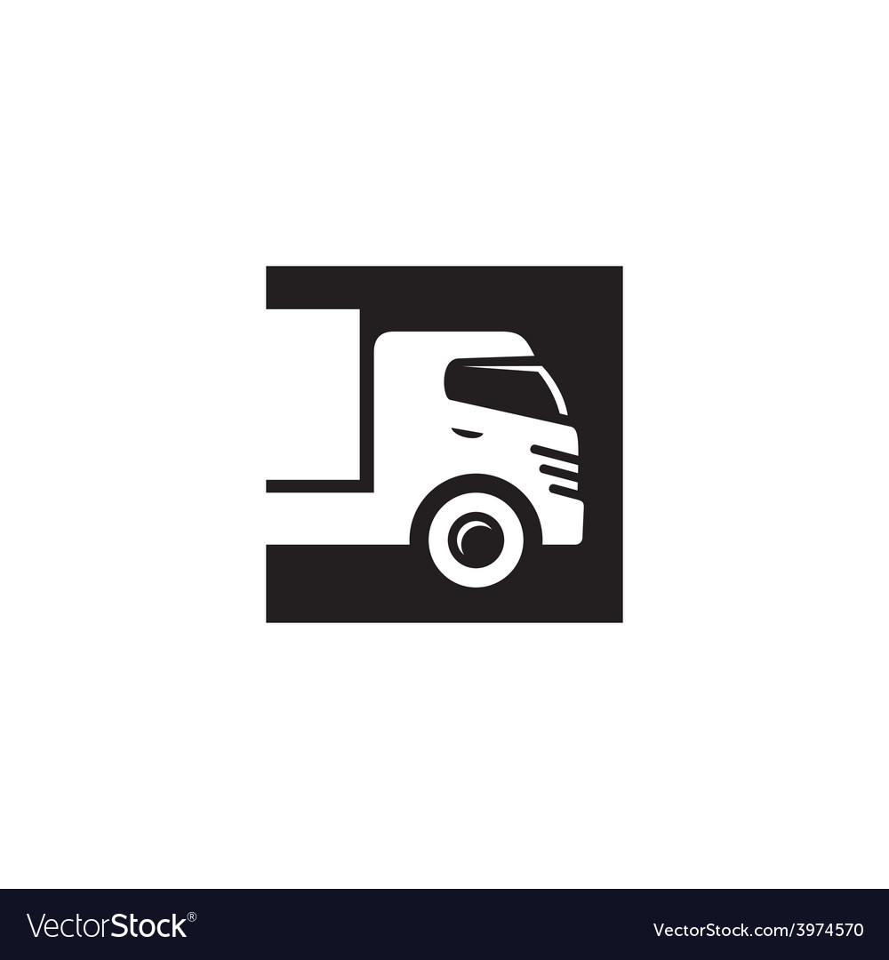 Cargo abstract sign vector image