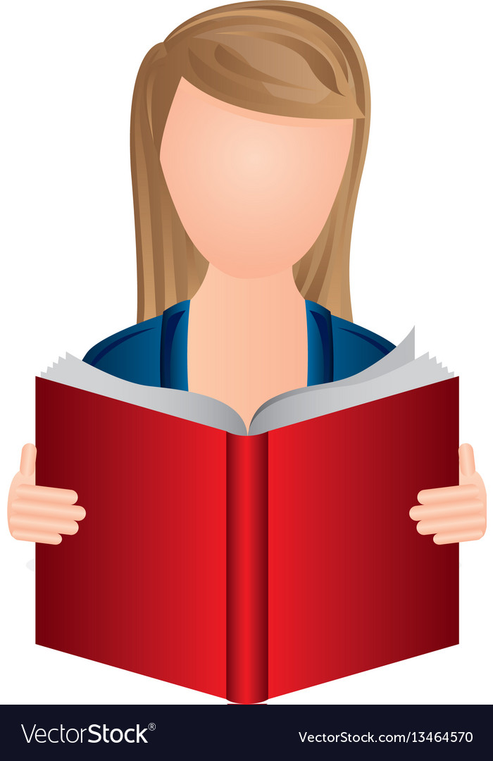 Color woman to read a book icon