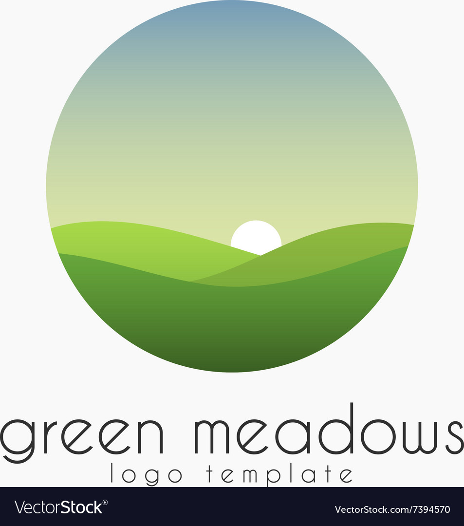 Ecological natural landscape - eco logo template