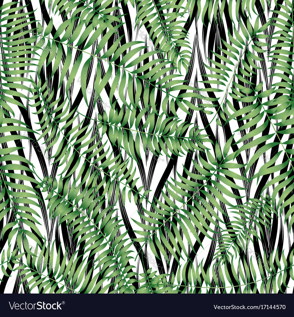 Floral geomtric tile pattern tropical leaves
