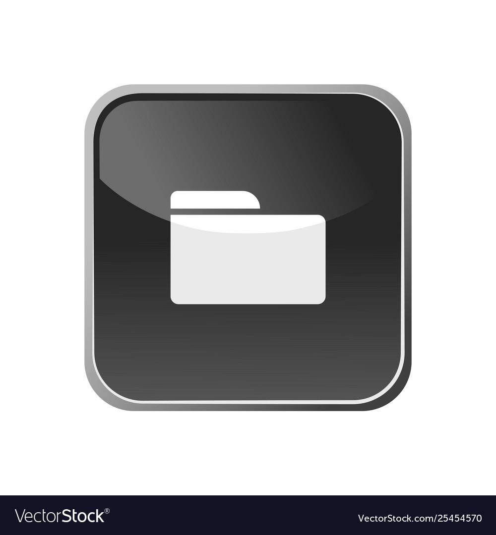 Folder icon on a square button