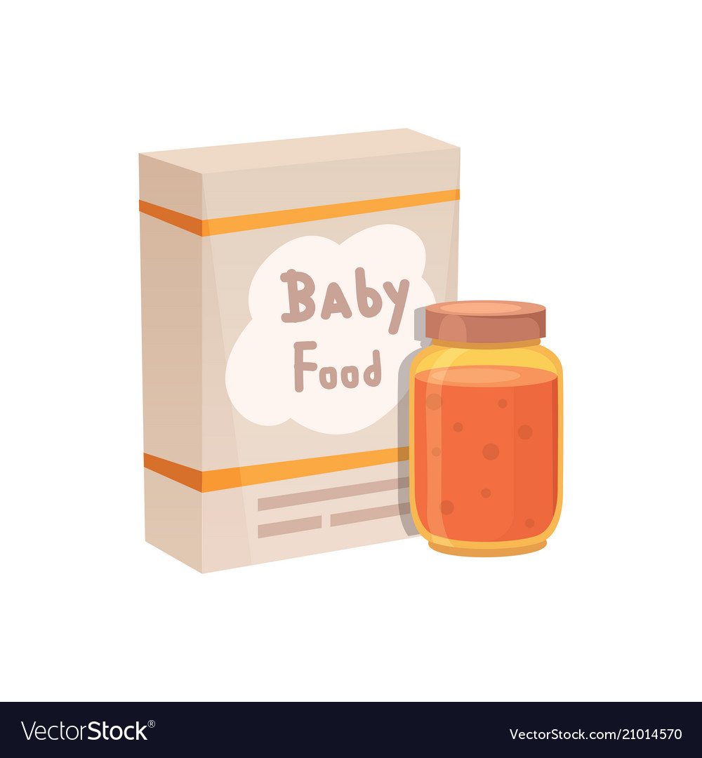 Food for baby cartoon products set