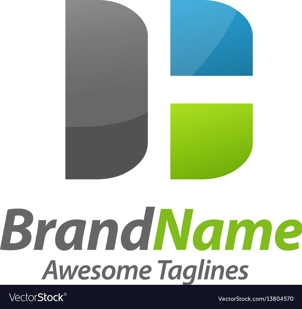 Letter dh logo vector image