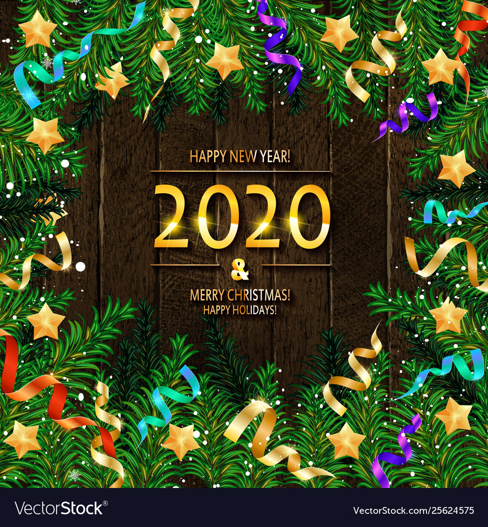 2020 happy new year and merry christmas
