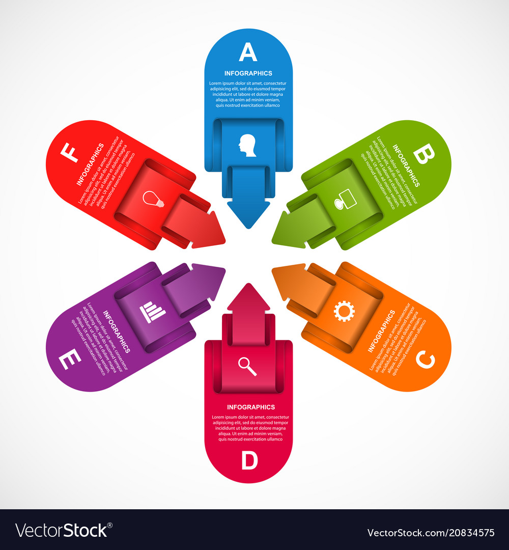 Abstract options arrows infographics template