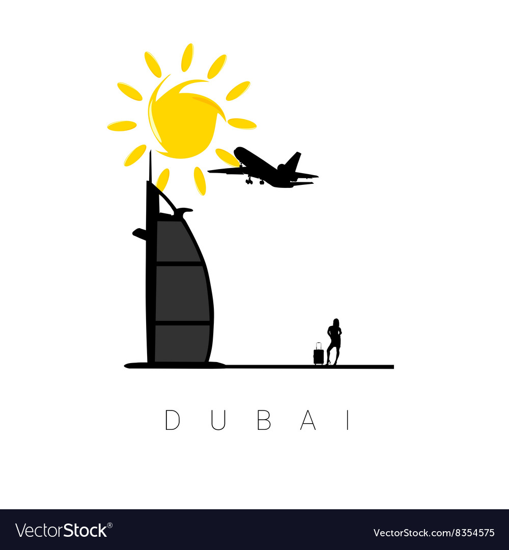 Dubai icon travel vector image