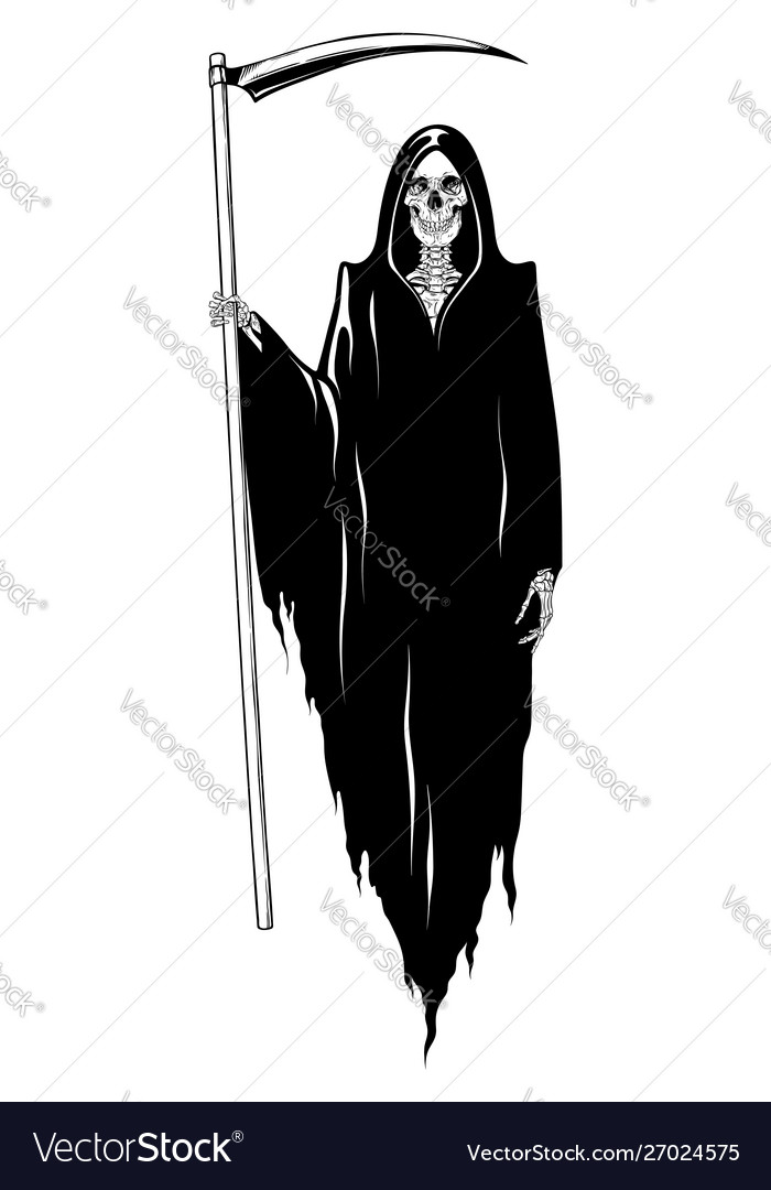 Grim reaper with scyposing