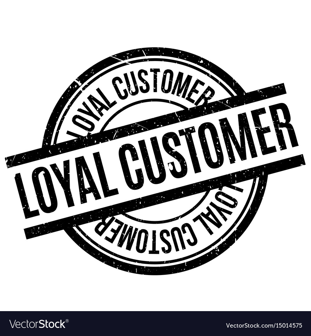 Loyal customer rubber stamp Royalty Free Vector Image