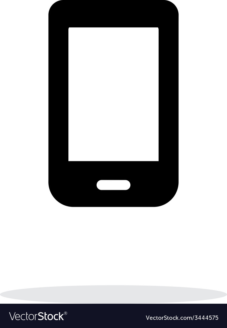 Mobile phone icon on white background vector image