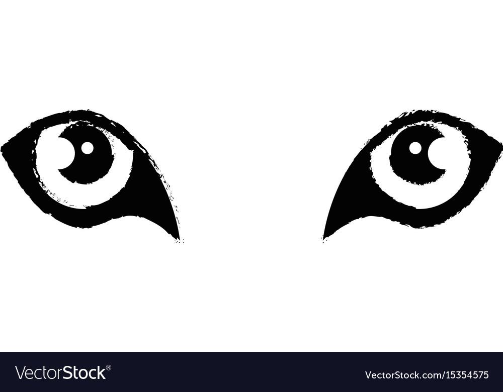 wild jaguar eyes royalty free vector image vectorstock rh vectorstock com eye vector free eyes vector clip art