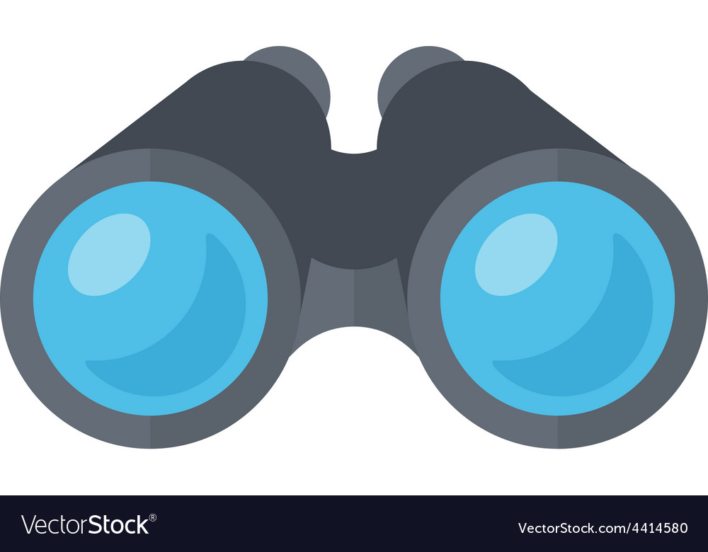Binoculars spy glasses vector image