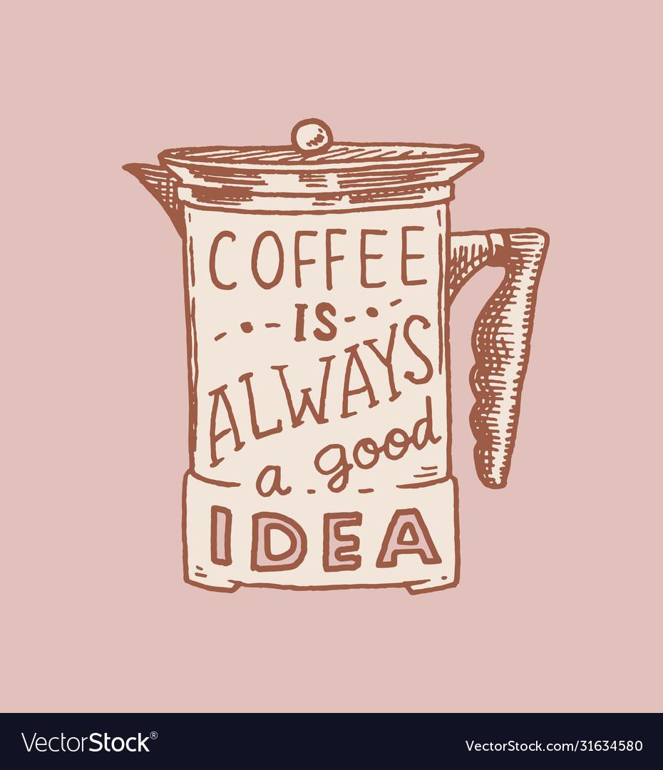 Coffee filter logo and emblem for shop vintage