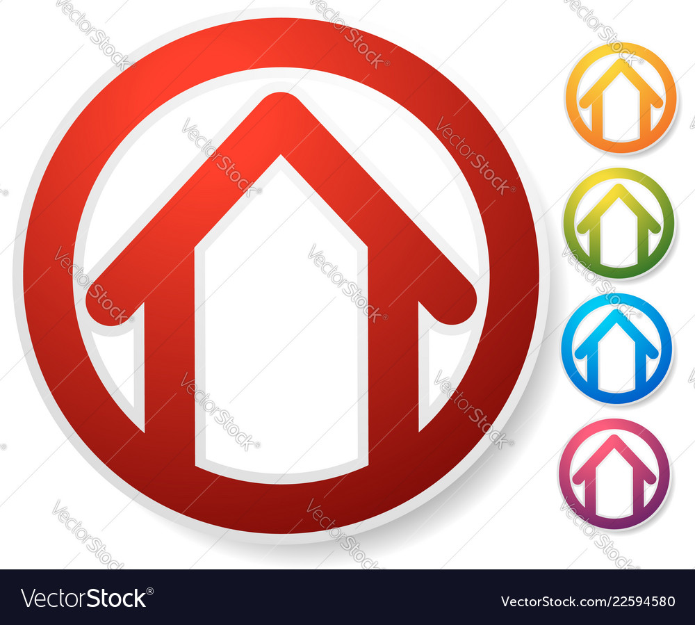 Contour house building symbol icon or logo