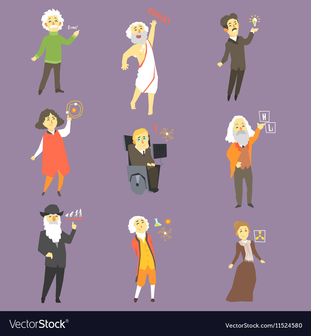 Famous Scientists Of The History Set