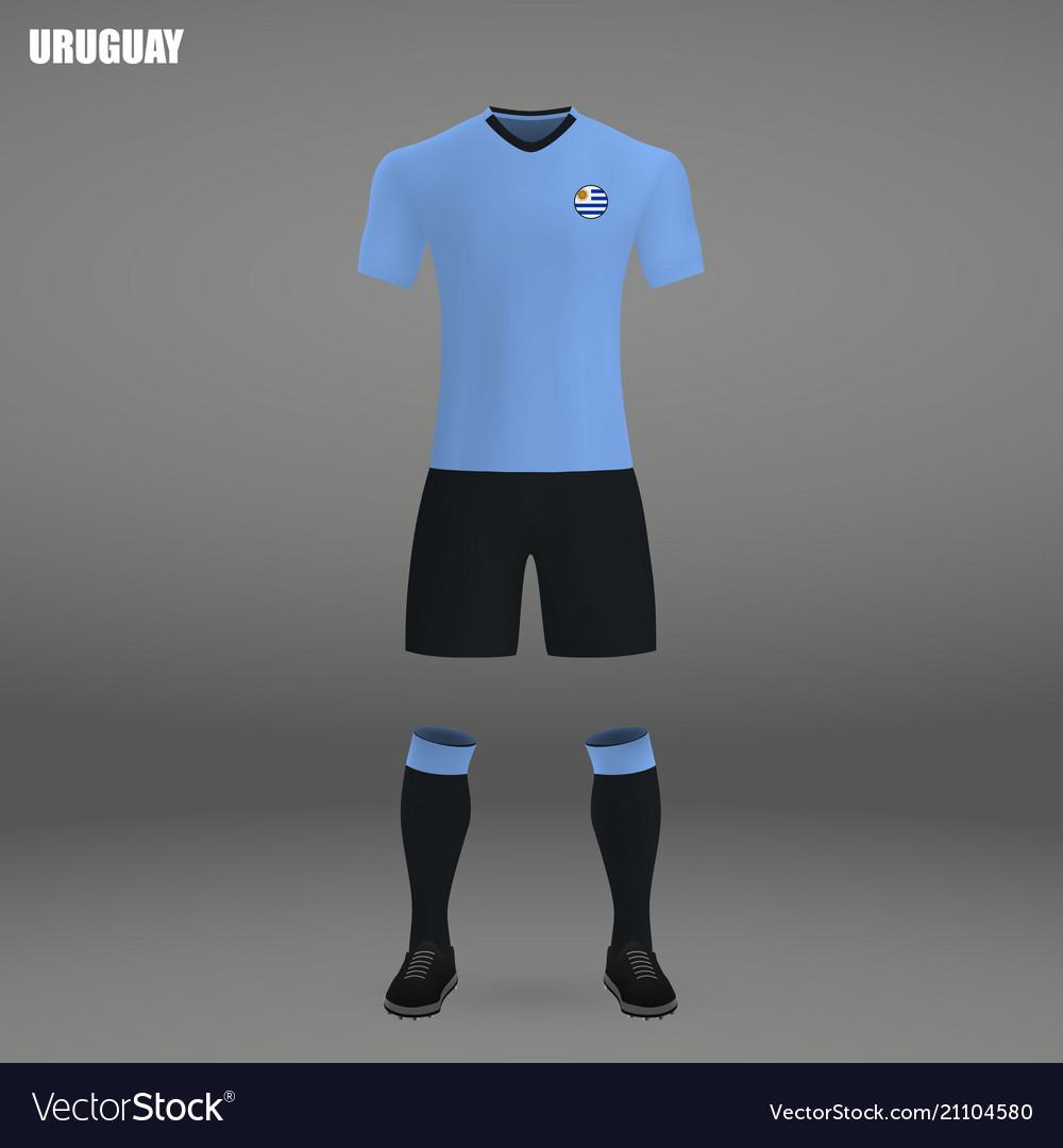 Football kit of uruguay 2018 Royalty Free Vector Image 9a09446c0