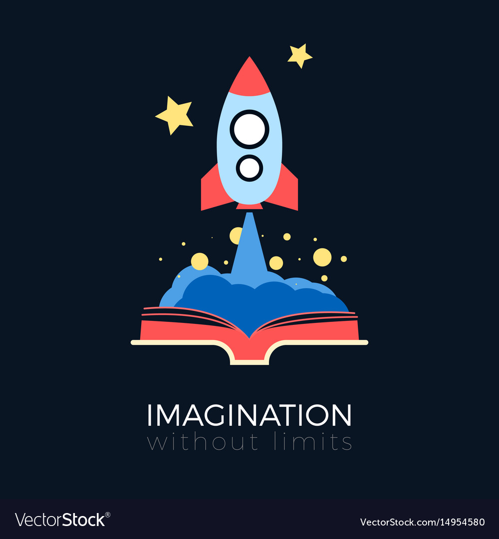 Imagination space exploration vector image