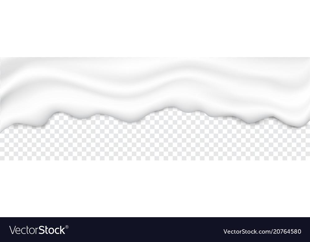 Liquid creamy white texture vector image