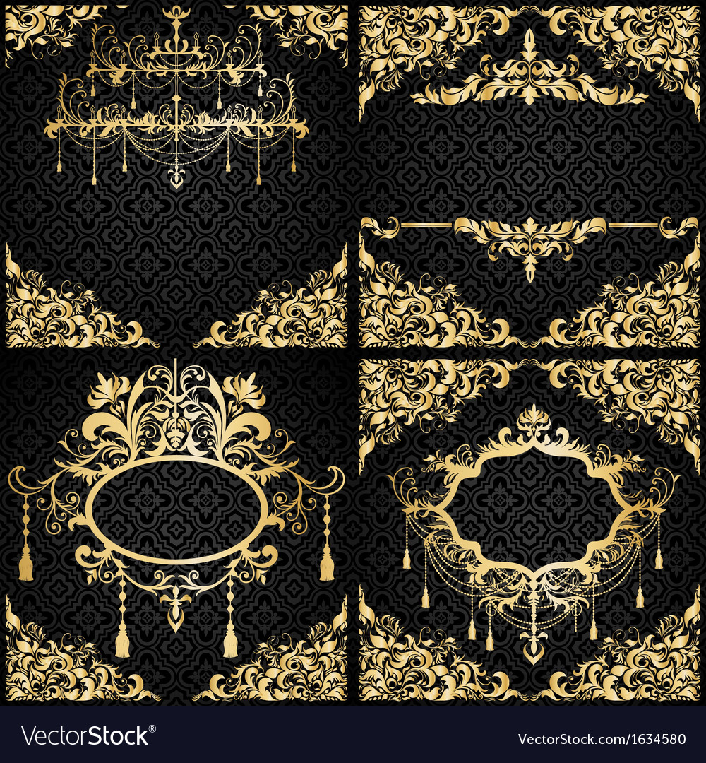 Luxury invitation setin black and gold