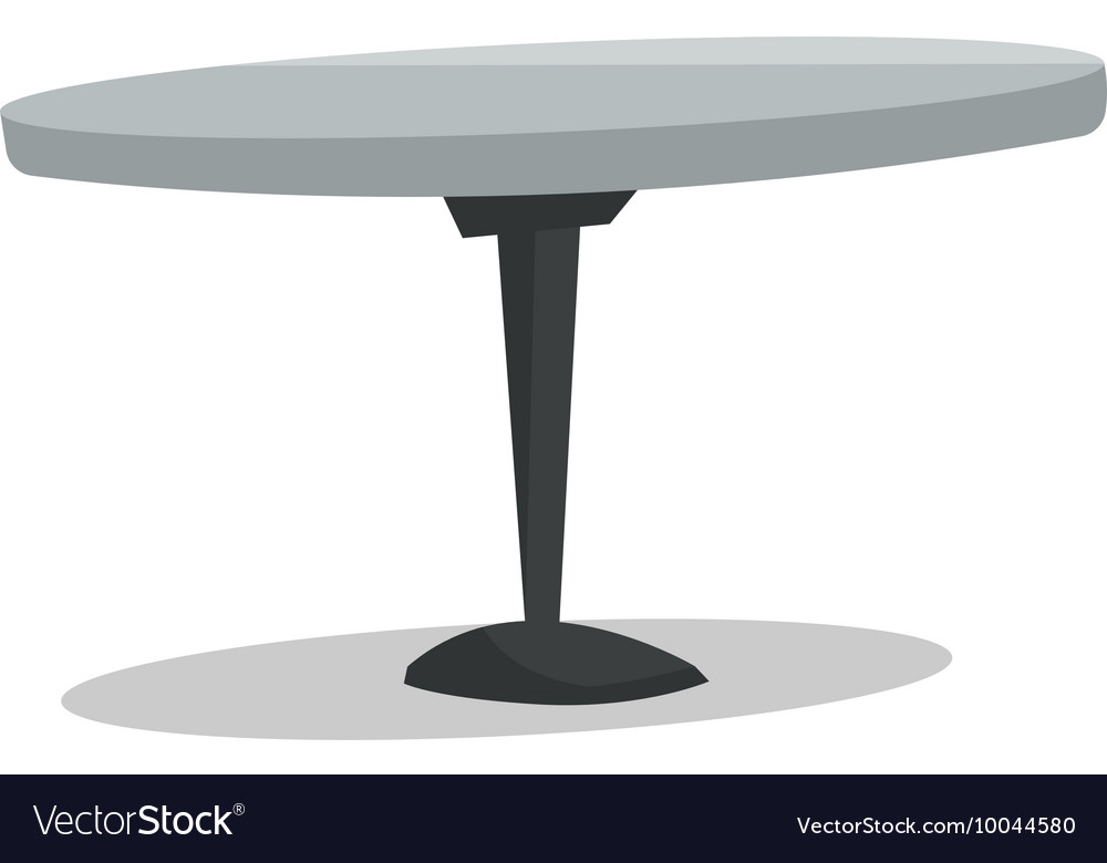 Round Bar Table Vector Image
