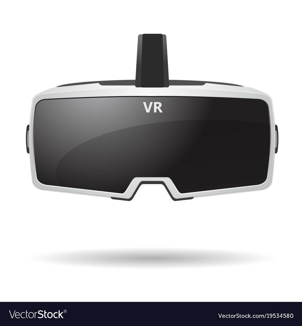 b9747ce611 Virtual reality headset Royalty Free Vector Image