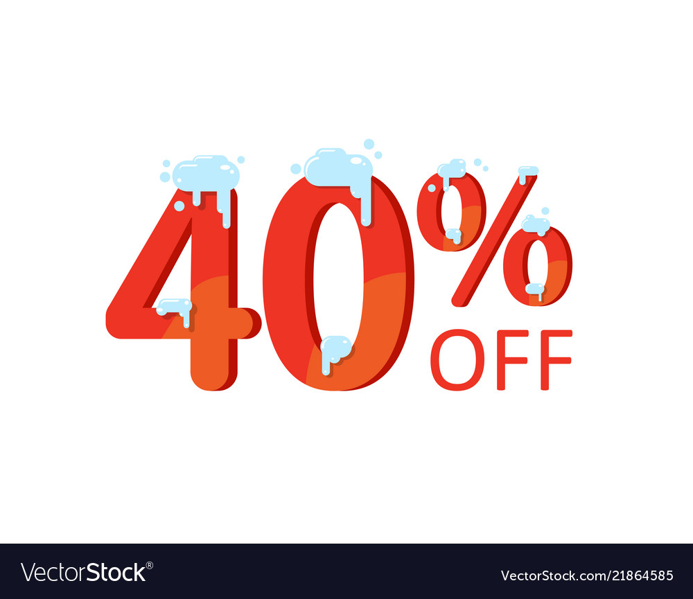 A discount of forty percent winter sale figures