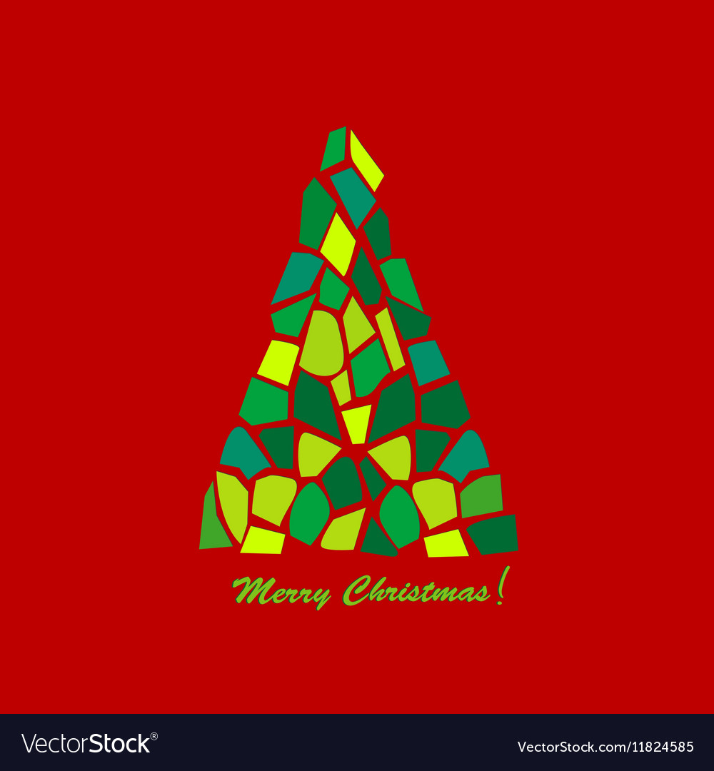 Abstract mosaic Christmas tree