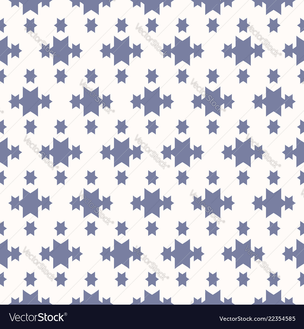 Blue and white geometric seamless pattern with