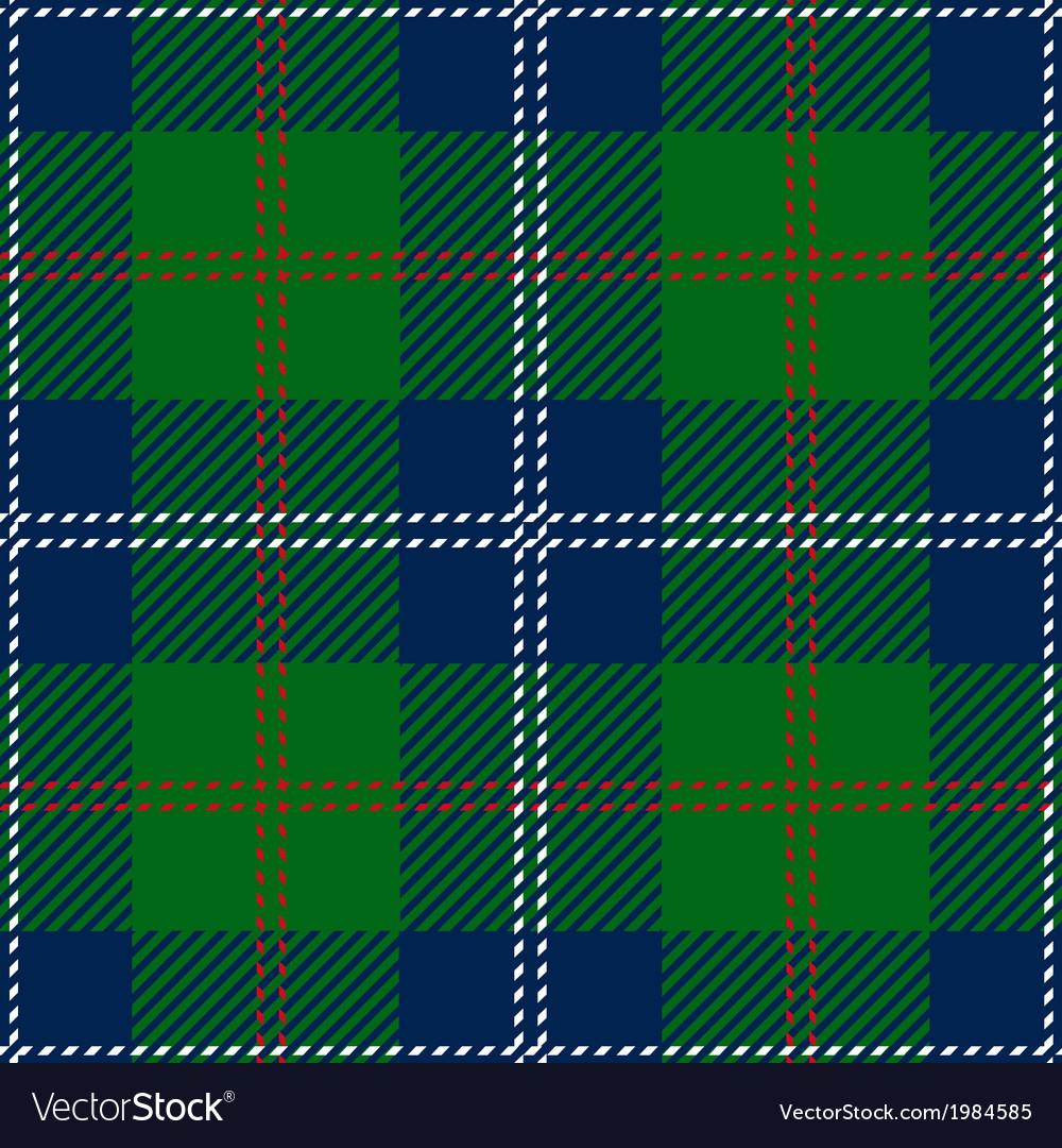 Blue Scottish Seamless Tartan Plaid vector image