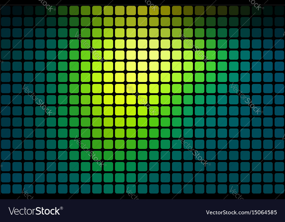 Bright yellow green abstract rounded mosaic