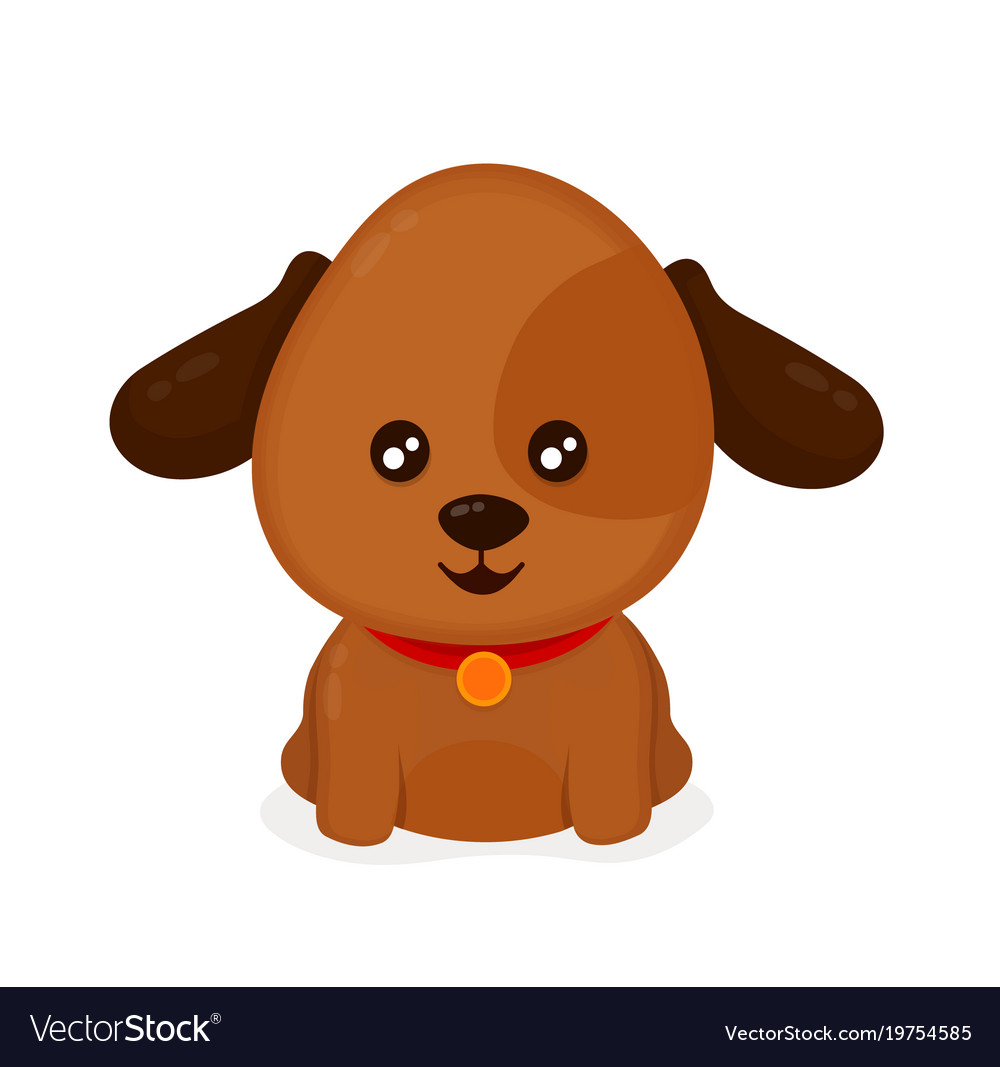 funny happy cute smiling dog puppy royalty free vector image rh vectorstock com puppy vector free puppy vector image