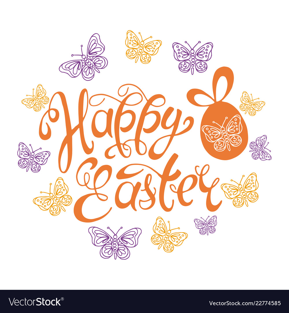 happy easter template background royalty free vector image