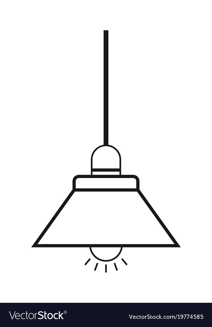 Lamp flat icon and light object interior