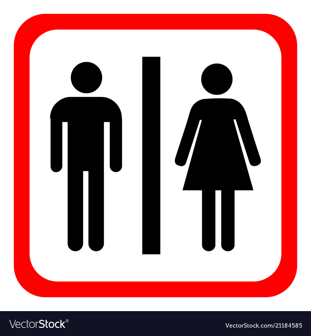 Womens Public Bathroom Toilet Video: Man And Woman Icons Toilet Sign Restroom Vector Image